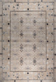 New Moon Rug   Erika, Khaki/twilight. This Intricate Floral Pattern Shows  The