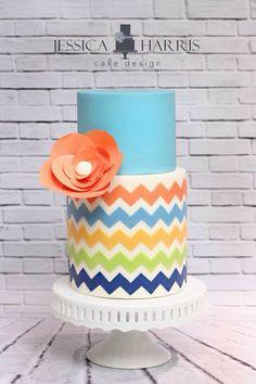 Jessica Harris Cake Design   chevron