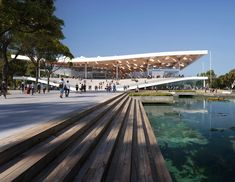 has revealed its design for the Sydney Fish Market, which will allow the public to observe the workings of what will be the world's largest fish market. Typology Architecture, Public Architecture, Landscape Architecture, Architecture Design, Roof Design, Exterior Design, Parque Linear, Sydney, Modern Buildings