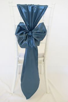 Satin Peacock Blue Chair Sashes Tablecloth off retail Wedding Chair Decorations, Wedding Chairs, Wedding Reception, Chair Ties, Chair Sashes, Chair Backs, Decoration Restaurant, Party Chairs, Recycled Bride