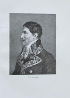 LUCIEN BONAPARTE Porträt 1911 Alter Druck Antique Print Lithographie