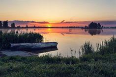 Morning on the lake-Poland