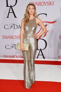 Gigi Hadid in a Michael Kors jumpsuit at the CFDA Awards - click through for the full gallery