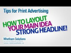 Tips & Ideas for Print Advertising / Marketing