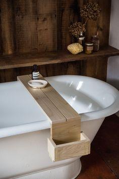 Jersey Ice Cream Co Shower caddy-bathroom, reclaimed wood, simple