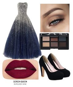 Beautiful prom dress by ariasuarez on Polyvore featuring polyvore, fashion, style, Smashbox, NARS Cosmetics and clothing