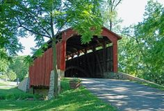 Covered bridge. Lancaster PA. On the way to school, we would drive under a covered bridge.
