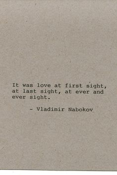 Vladimir Nabokov Quote Made on Typewriter by FlightOfFancyPrints