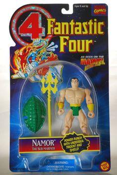 1995 - Toy Biz / Marvel Comics - Fantastic Four - Namor The Sub-Mariner Action Figure - Power Punch  @ niftywarehouse.com