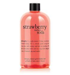 Philosophy Strawberry Italian Soda Shampoo, Shower Gel  Bubble Bath - 16 fl.oz by Philosophy