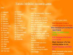 Another Naruto birthday scenario game~ by TheBlueEyedVampire on deviantART