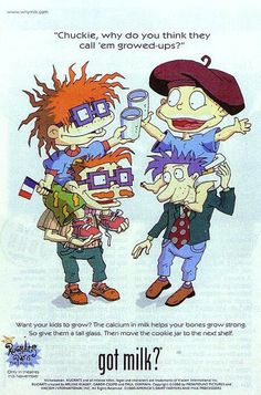 Pin for Later: The Most '90s-tastic Got Milk? Ads The Rugrats characters Chuckie and Tommy posed with their dads for one of the '90s ads.