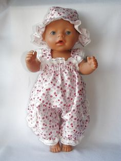 """Photo from album """"Летние костюмы"""" on Yandex. Sewing Doll Clothes, American Doll Clothes, Girl Doll Clothes, Doll Clothes Patterns, Clothing Patterns, Girl Dolls, Diy Clothes, Baby Born Clothes, Bitty Baby Clothes"""