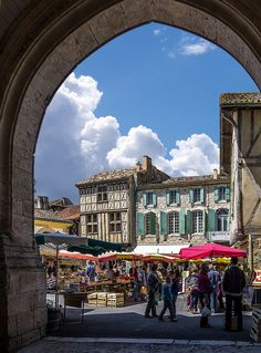 Market, Issigeac, Acquitaine, France