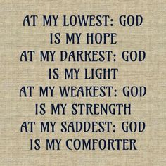 God is my everything
