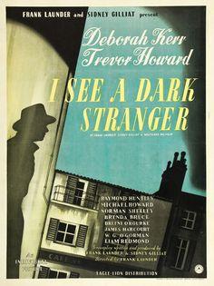 I See a Dark Stranger (Frank Launder, 1946) UK one sheet design