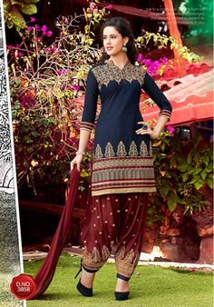 Salwar Suits Online: Latest Indian Salwar Kameez For Women, at Utsav Fashion Patiala Salwar Suits, Cotton Salwar Kameez, Indian Salwar Kameez, Salwar Kameez Online Shopping, Salwar Suits Online, Punjabi Dress, Punjabi Suits, Culture, Indian Outfits