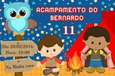 Convite digital personalizado Acampamento 003