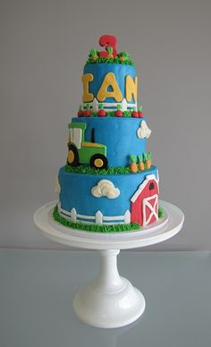 tractor cake by confectioneiress, via Flickr