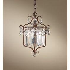 Drewes 1-Light Crystal Chandelier