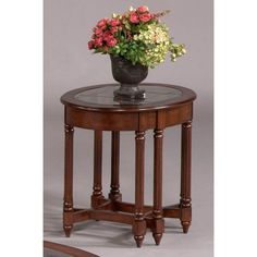 Progressive Furniture Oval End Table - Dark Berry | from hayneedle.com
