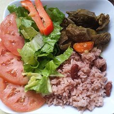 What did you have for Sunday dinner? Recipes at http://jamaicans.com/recipes/   by @giauu #dinner #sunday #riceandpeas #healthy #curry #foodporn #jamaicanfood