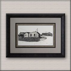 Connie of Red Deer remembers her Dad's feedlot everyday as she gets to view it nicely framed on her wall. Everyone has memories in a shoebox - enjoy them daily on the wall. Red Deer, Shoe Box, Illustration Art, Memories, Frame, Wall, Projects, Home Decor, Log Projects