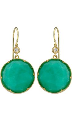 Irene Neuwirth Chrysoprase & Diamond Earrings