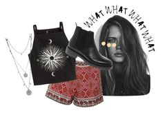 """""""Festival Look"""" by flowerpowerxx ❤ liked on Polyvore featuring GE, Glamorous, H&M, Vince Camuto, Vagabond and Kate Spade"""