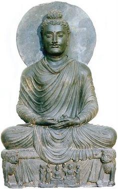Meditating Buddha, from Gandhara, Pakistan