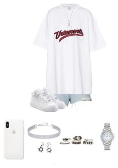 """""""Untitled #948"""" by emilya-stalstiwasky ❤ liked on Polyvore featuring Alexander Wang, Vetements, NIKE, Swarovski, Roberto Coin and Citizen"""