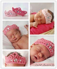 DIY Crochet Newborn Crown Free Pattern | DIY Tag