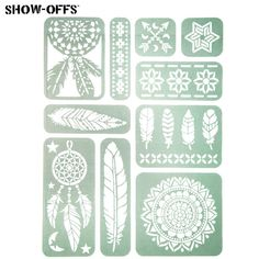 Get Bohemian Feather Adhesive Stencils online or find other Stenciling products from HobbyLobby.com
