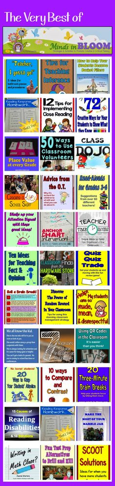 The most popular posts on Minds in Bloom! Teaching Tips, Classroom Management, Freebies, and More!