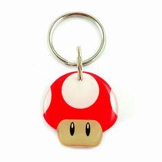 Happy Tags - Red Super Mario Bro's Mushroom, $15.00 (http://www.happy-tags.com/products/red-super-mario-bros-mushroom.html)