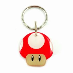 Happy Tags - Red Super Mario Bro's Mushroom, $15.00 (http://www.happy-tags.com/products/red-super-mario-bros-mushroom.html)