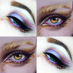 Ariel Make Up ~ Make Up & Beauty with a Princess Touch: ♕ Fairy Queen Make Up ♕{Inspired by a Face Chart} Creative Eye Makeup, Eye Makeup Art, Fairy Makeup, Beauty Makeup, Arabic Makeup, Indian Makeup, Discontinued Makeup, Makeup Charts, Makeup Geek Cosmetics