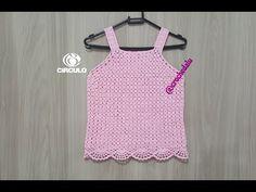 Blusa/Regata em crochê - Parte 1 - YouTube Crochet Summer Tops, Crochet Crop Top, Crochet For Kids, Baby Girl Sweaters, Crochet Baby Clothes, Girls Blouse, Crochet Videos, Bra Tops, Youtube