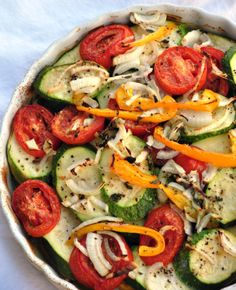 With this new recipe in hand, I can't wait from August! Summer Vegetable Casserole
