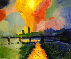 André Derain was a French artist, painter, sculptor and co-founder of Fauvism with Henri Matisse Paul Cezanne, Henri Matisse, Andre Derain, Raoul Dufy, Maurice De Vlaminck, Georges Braque, Museum Of Modern Art, French Artists, Landscape Art