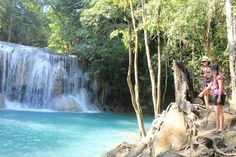 Erawan Falls: The water are so clear