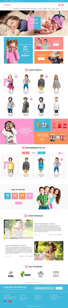 Kidzee is a very clean and modern designed PSD template for #kids #eCommerce #shopping #website with 3 homepage style and 14 PSD pages download now➯ https://themeforest.net/item/kidzee-ecommerce-psd-template/14158306?ref=Datasata