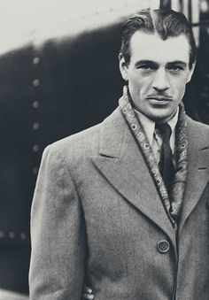 Gary Cooper/ I don't ever remember seeing Coop with a mustache. But very handsome indeed.  C