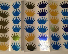 60 royal blue and gold glitter crown stickers-- envelope seals-- birthday stickers-- weddings-- baby shower