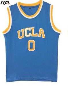 huge discount d9e98 0eb08 2017 TBA Mens Cheap Throwback Basketball Jerseys  0 Russell Westbrook  Jersey UCLA Bruins Retro Stitched · HommesChemiseBroderiePaniersTenues De  ...