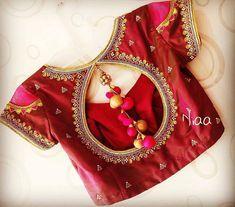 Cotton Saree Blouse Designs, Fancy Blouse Designs, Bridal Blouse Designs, Indian Blouse Designs, Hand Work Blouse Design, Stylish Blouse Design, Buddha Drawing, Patiyala Dress, Blouse Desings