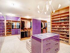 Justice Kohlsdorf Residence Master Closet - modern - closet - atlanta - Cablik Enterprises