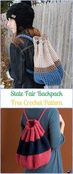 Crochet State Fair Backpack Free Pattern -Crochet Backpack Free Patterns Adult Version
