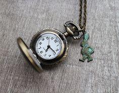 ON SALE Vintage Style Small Pocket Watch by lunashineshine on Etsy