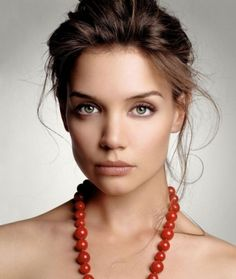 Katie Holmes Beautiful Messy Updo-- wonder if I could get my curly hair to do this #hairideas